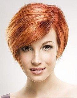 Красивые стрижки на средние рыжие волосы