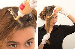 Как правильно покрасить корни волос видео