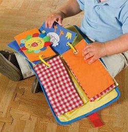- Мягкая развивающая книжка для ребенка своими руками.