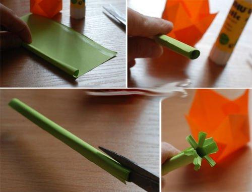 Как сделать поделку цветы из бумаги своими руками