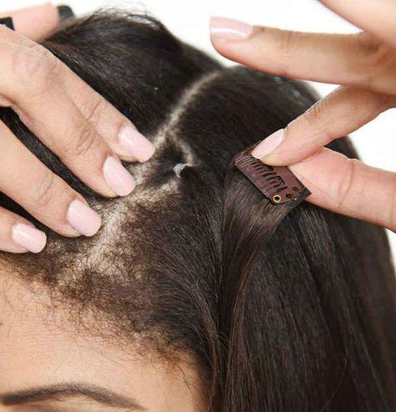 Как крепить накладные волосы на заколках