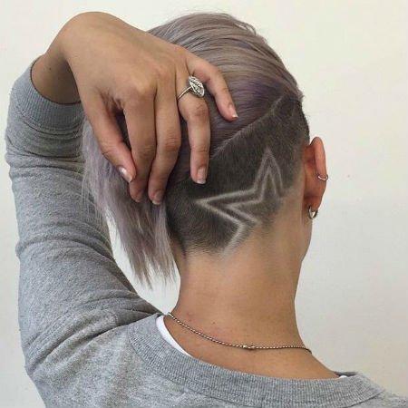 Женские стрижки на длинные волосы с выбритым затылком фото
