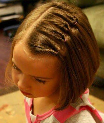 Прически на маленькие волосы для девочек